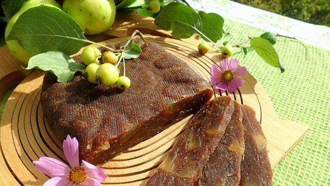 Яблочный сыр с медом