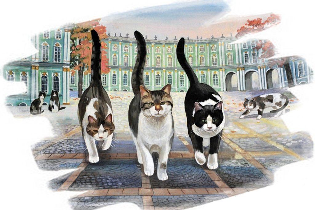 Прославленные коты - смотрители музея Эрмитаж