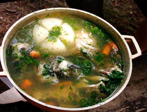 Суп из речной рыбы: уха с головешкой