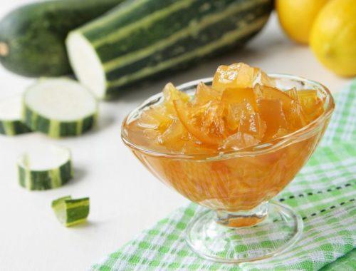 Варенье с лимоном: сахарный кабачок