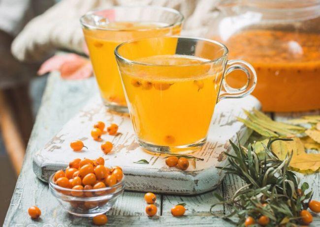 Популярный напиток осени - облепиховый чай